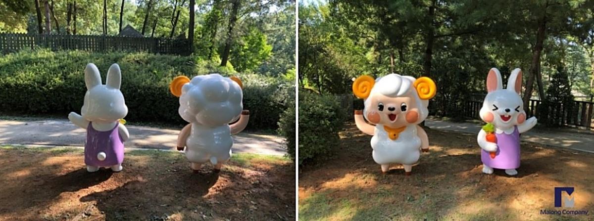 [FRP 동물 조형물 제작] 청주 동물원 포토존, 동물 캐릭터 조형물