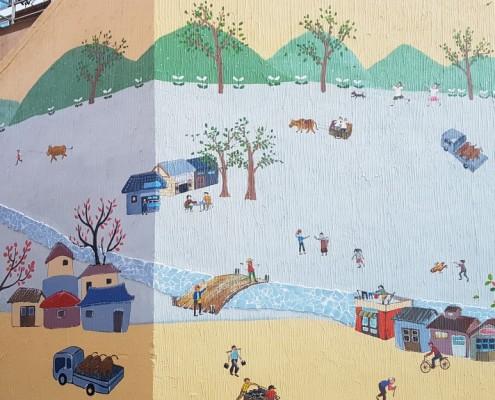 환경개선벽화 공공벽화 벽화시공 벽화제작과정 벽화제작 골목벽화 금천구벽화 독산동벽화 공공미술 경관개선벽화