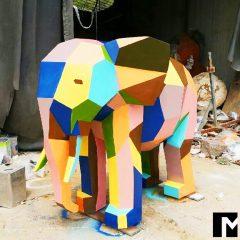 코끼리 조형물 제작 개인 조형물 디자인 행사용 모형 FRP 모형 제작 컬러 조형물 전문 9