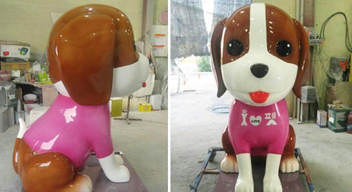 애견샵 조형물 제작 업체 캐릭터 조형물 모형 간판 조형물 frp 조형물 frp 제작 업체 모형 제작 강아지 조형물