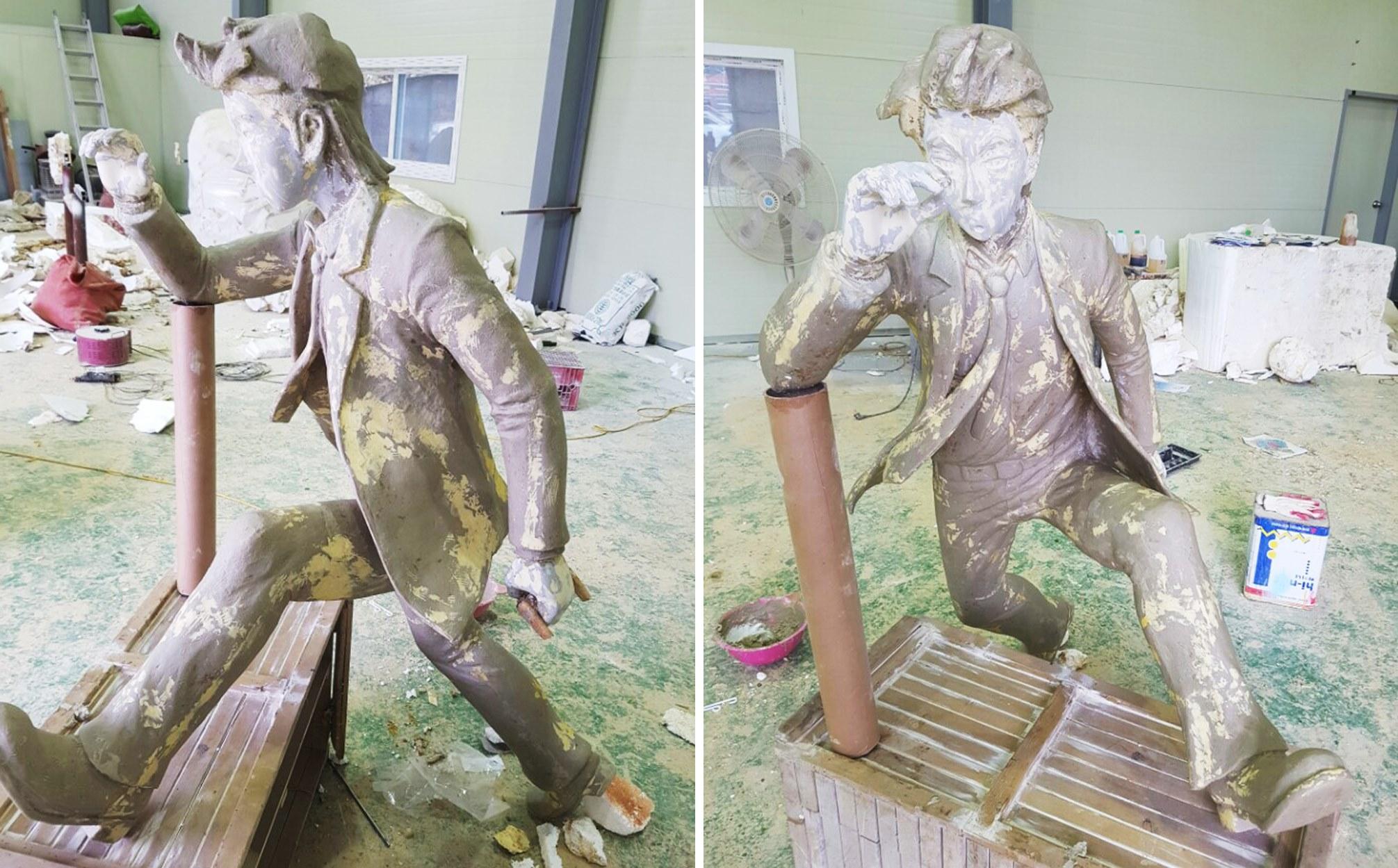 청동 조형물 제작 청동상 브론즈 조형물 설계 금속 조형물 제작 대형 피규어 캐릭터 모형 제작 소녀상 제작 상징 조형물 디자인 조형물 설치