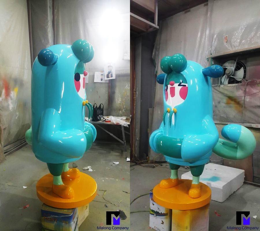 FRP 제작 강아지 캐릭터 모형 제작 사례