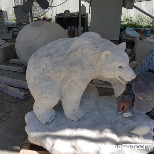 석재조형물_곰과 두꺼비 동물 석상