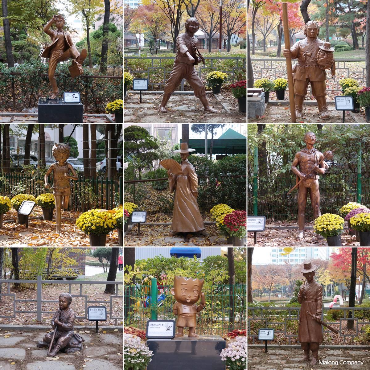 [청동 조형물, 동상 제작] 만화 공포의 외인구단 '까치' 브론즈 조형물 제작 사례