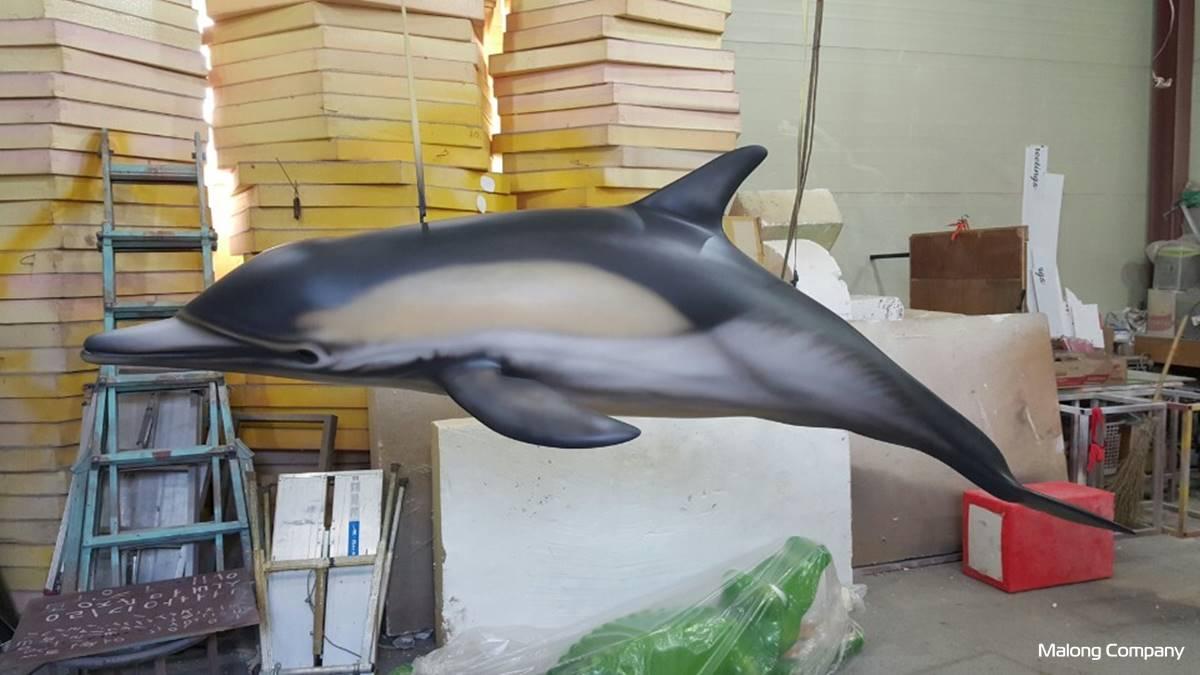 [FRP 조형물 제작] 국립수산과학원 고래 실내 조형물 FRP 제작