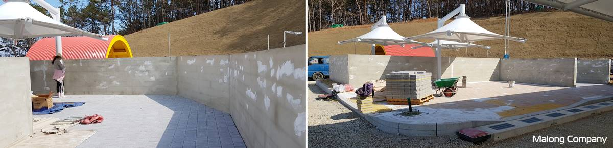 [벽화 제작] 울산 키즈오토파크 어린이 교통안전 체험관 실외 벽면 벽화 시공