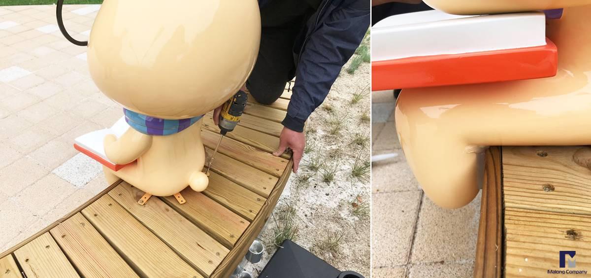 [FRP 캐릭터 조형물] 증평 좌구산휴양림 토끼와 거북이 캐릭터 제작 및 설치