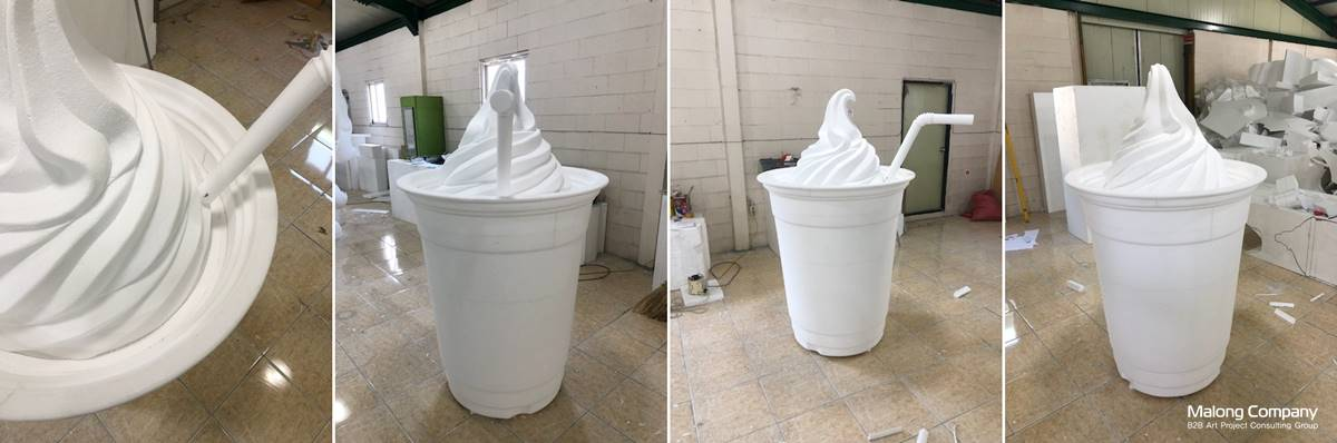 [FRP 제품 조형물] 오설록 소프트 녹차 아이스크림 대형 광고 조형물