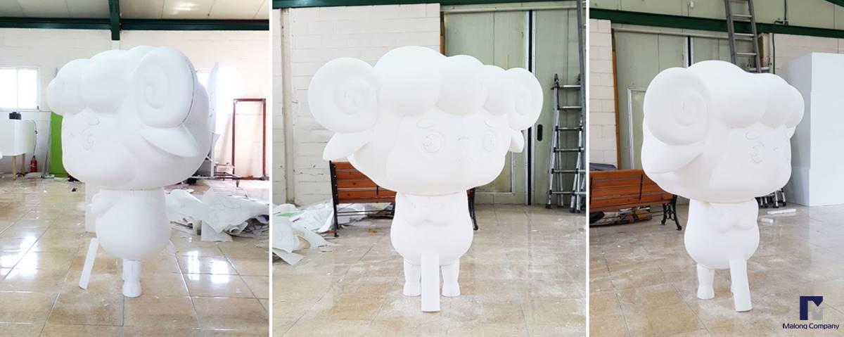 [동물 캐릭터 조형물] 증평 별천지 공원 FRP 동물, 인물 모형 제작