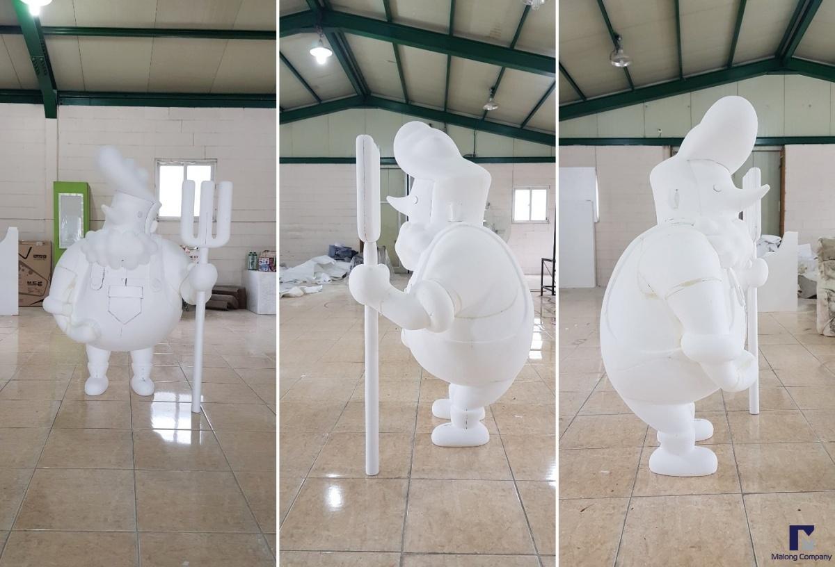 [FRP 조형물 제작] 보령 우유 FRP캐릭터 조형물, FRP로고 조형물