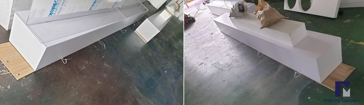 [스티로폼 글자 조형물] 호텔 여름 페스티벌 입체글씨 조형물 제작
