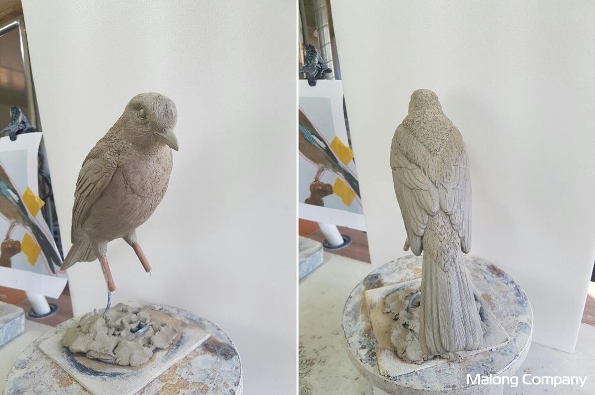 [2003_375] 박물관 전시 조형물 실제 동물 모형 FRP 새 모형 제작