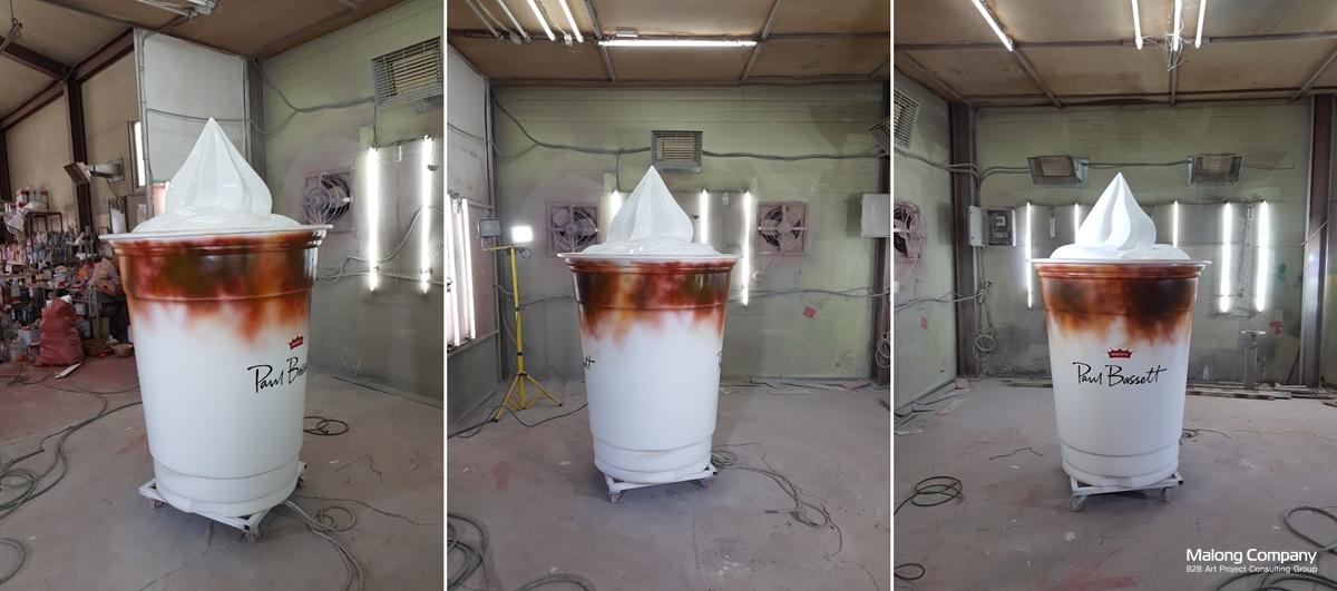 폴바셋 아이스크림 라떼 FRP 대형 제품 조형물 제작