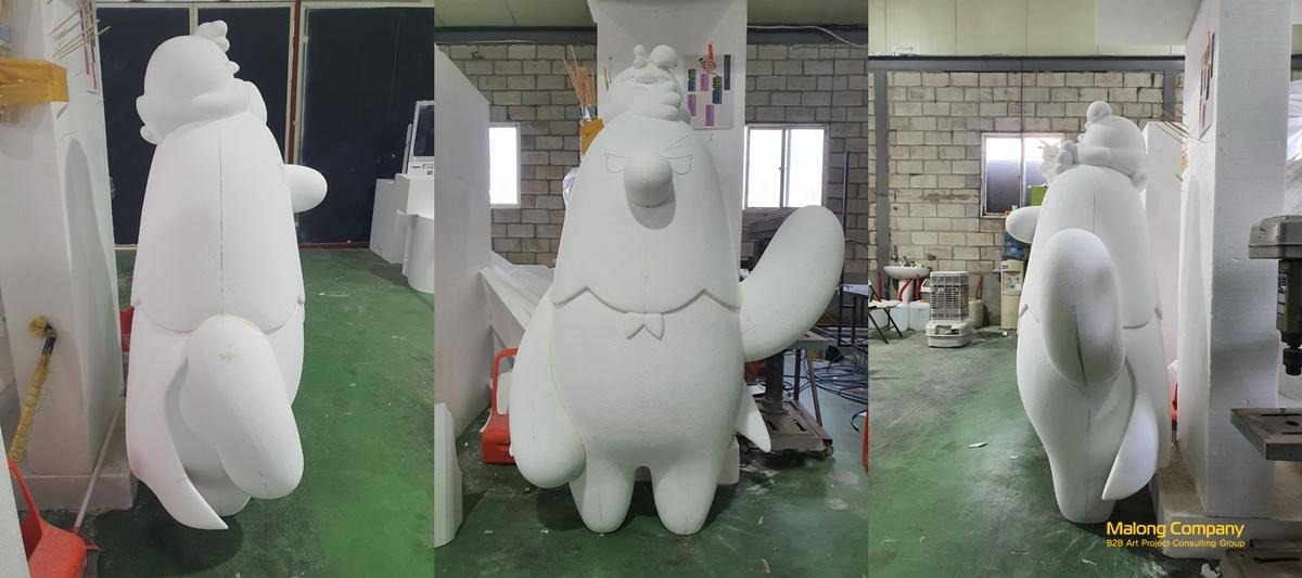 전북 마스코트(독수리)_동물 캐릭터 FRP 조형물 제작