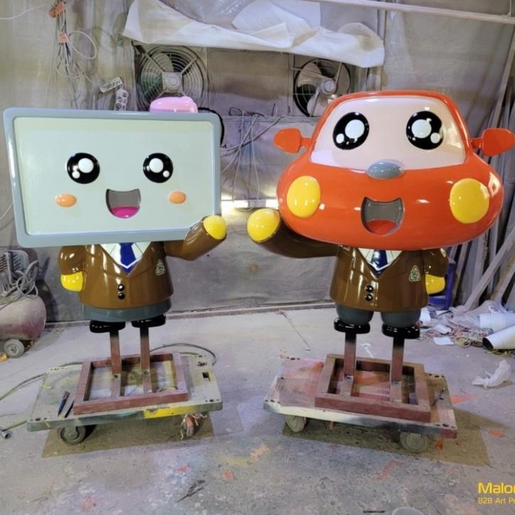 초계 고등학교 전공 상징 FRP 조형물 (상과, 공과 캐릭터)